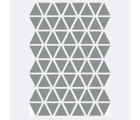 Ferm Living Wandaufkleber Mini Triangles grau 72 Stück