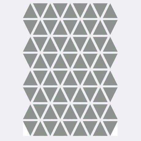 Ferm Living Muursticker Mini Triangles grijs 72 stuks