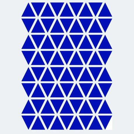 Ferm Living Muursticker Mini Triangles blauw 72 stuks