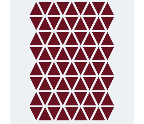Ferm Living Sticker mural Mini Triangles rouge 72 pièces