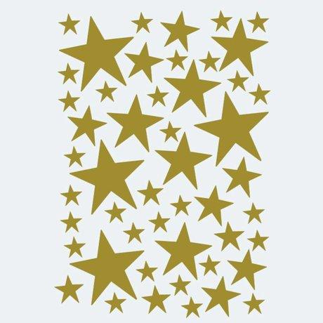Ferm Living Muursticker Mini Stars goud 49 stuks