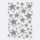 Ferm Living Wall sticker Mini Stars gray 49 pieces