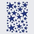 Ferm Living Muursticker Mini Stars blauw 49 stuks