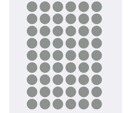 Ferm Living Sticker mural mini pois gris 54 pièces