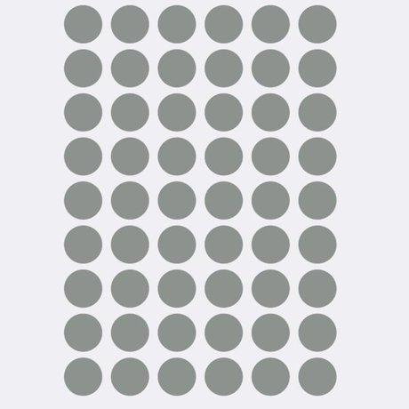 Ferm Living Wall sticker Mini Dots gray 54 pieces