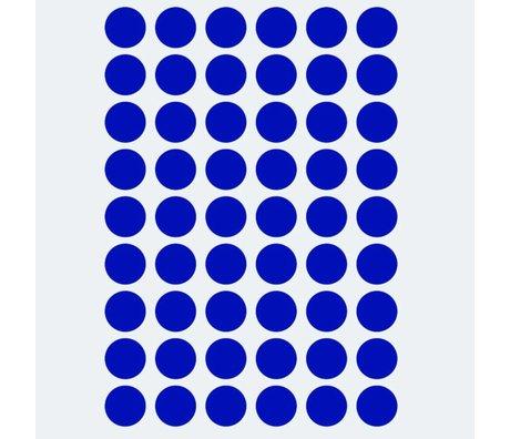 Ferm Living Muursticker Mini Dots blauw 54 stuks