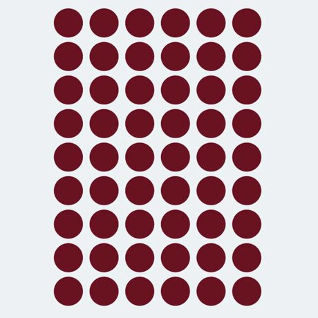 Ferm Living Wall sticker Mini Dots red 54 pieces