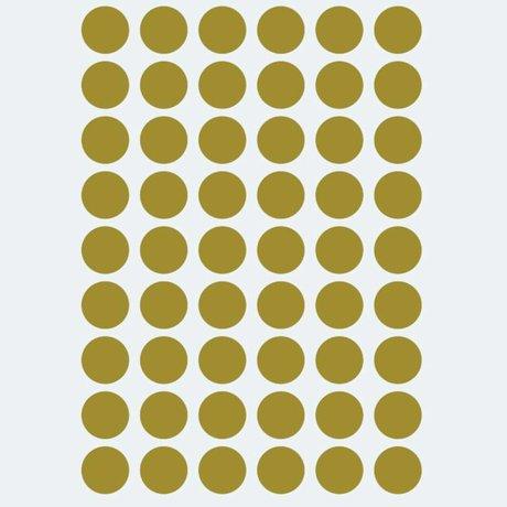 Ferm Living Sticker mural mini pois doré 54 pièces