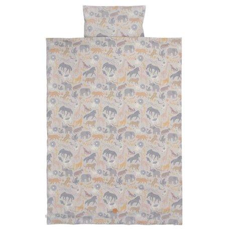 Ferm Living Enveloppe de couette Safari junior en coton 100x140 / 46x40cm en coton