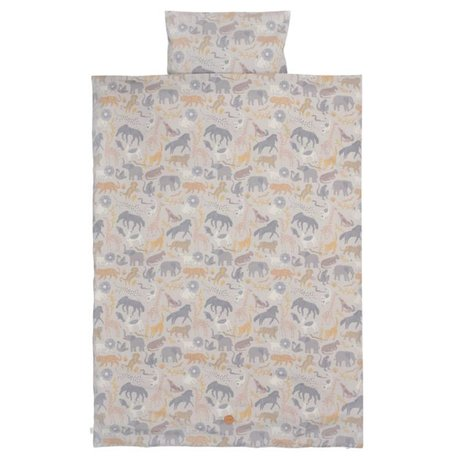 Ferm Living Duvet cover Safari teen cotton 140x200 / 63x60cm cotton