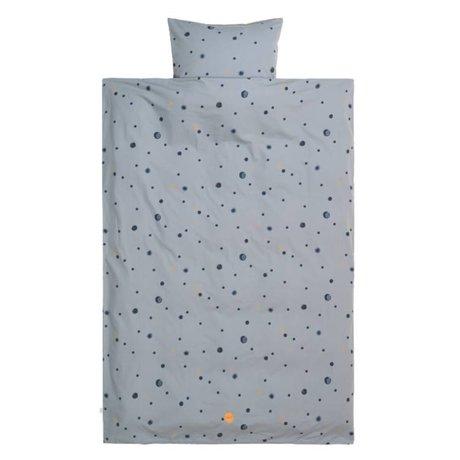 Ferm Living Housse de couette Moon junior en coton 100x140 / 46x40cm en coton