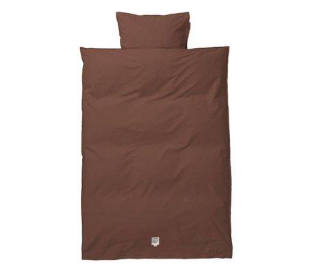 Ferm Living Housse de couette Hush Cognac bébé coton 70x100 / 46x40cm