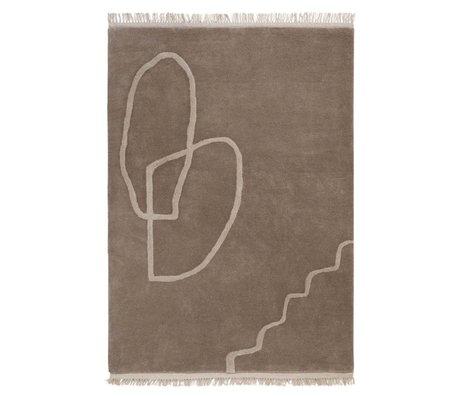 Ferm Living Teppich Wüste Tufted Sand braun Textil 140x200cm