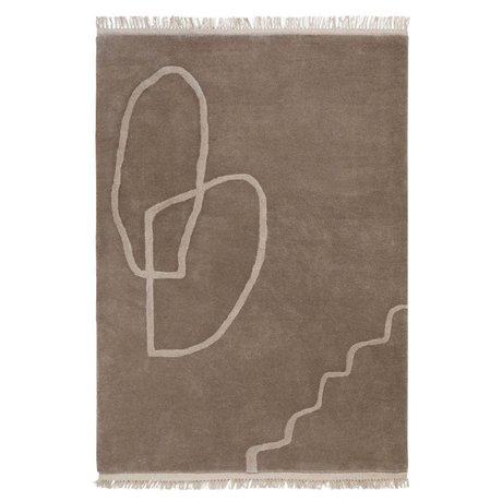 Ferm Living Rug Desert Tufted sand brown textile 200x300cm