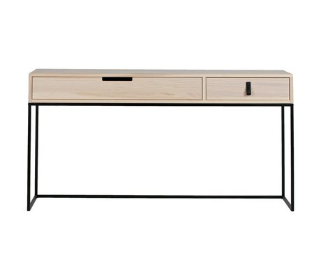 WOOOD Sidetable Silas Sydney natural brown brushed ash 140x40x74cm