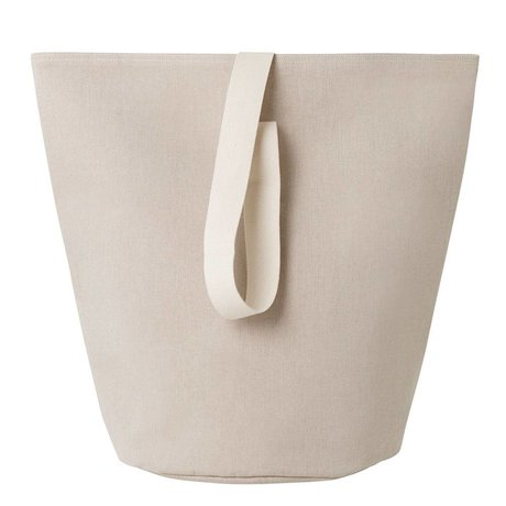 Ferm Living Laundry basket Chambray large beige cotton Ø40x62cm