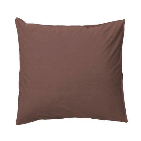 Ferm Living Taie d'oreiller Hush en coton biologique cognac 63x60cm