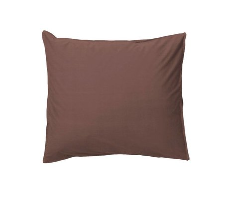 Ferm Living Pillowcase Hush cognac organic cotton 50x60cm