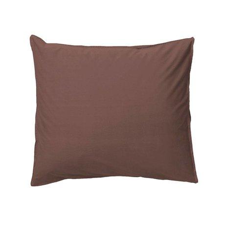 Ferm Living Taie d'oreiller Hush en coton biologique cognac 50x60cm