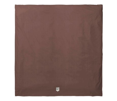 Ferm Living Duvet cover Hush cognac organic cotton 200x200cm