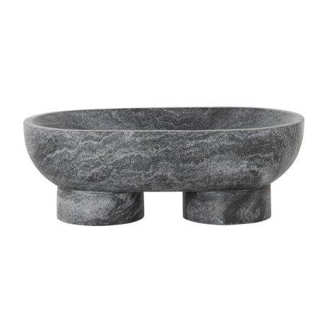 Ferm Living Dish Alza black marble 25x14x9cm