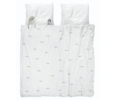 Snurk Beddengoed Housse de couette Artic friends coton blanc 260x200 / 220cm + 2 / 60x70cm