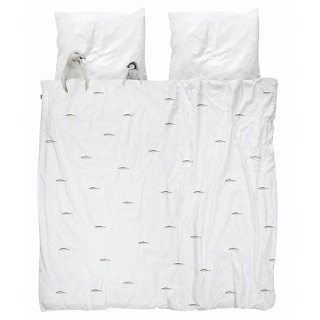 Snurk Beddengoed Duvet cover Artic friends white cotton 260x200 / 220cm + 2 / 60x70cm