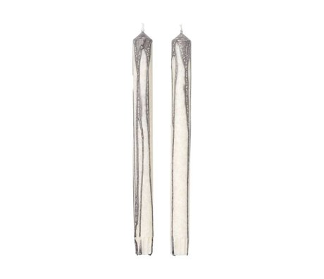 Ferm Living Kerzen Duo grau gebrochen weiß 2er Set