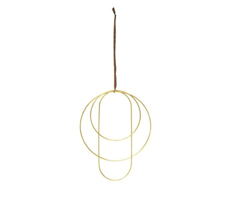 Ferm Living Deco frames brass goud set van 3