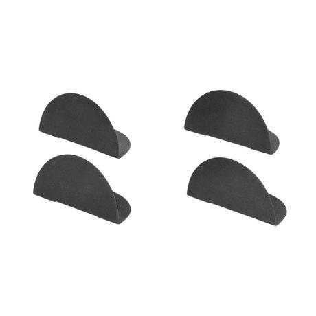 Ferm Living Kaarthouder zwart metaal set van 4 4,8x2,4x2,3cm