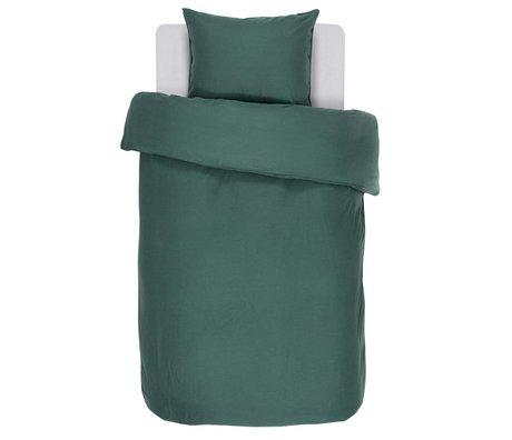 ESSENZA Bettbezug Minte grüner Baumwollsatin 140x220 + 60x70cm