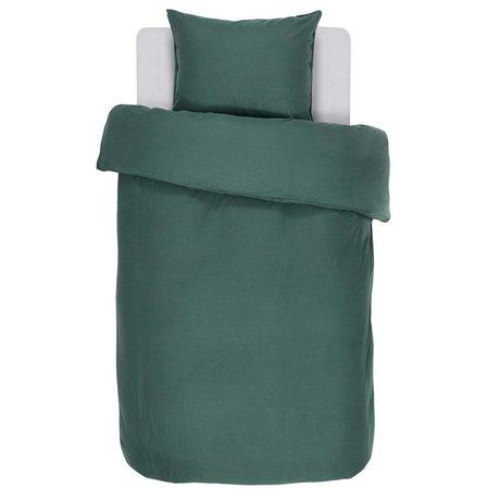 ESSENZA Dekbedovertrek Minte groen katoen satijn 140x220+60x70cm