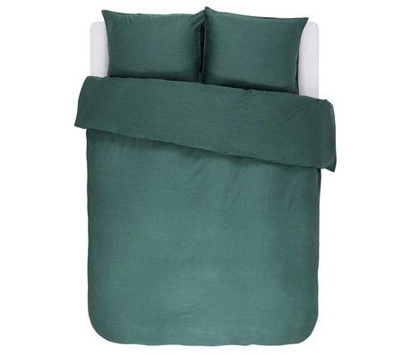 ESSENZA Dekbedovertrek Minte groen katoen satijn 200x220+2/60x70cm