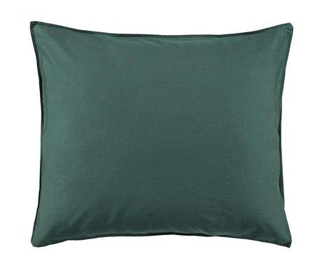 ESSENZA Kopfkissenbezug Minte grüner Baumwollsatin 60x70cm