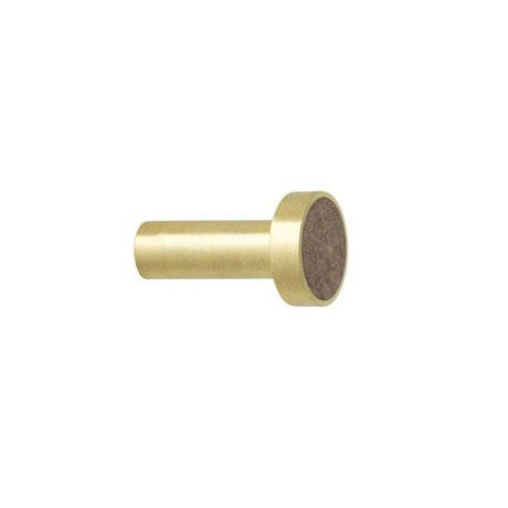 Ferm Living Wandhaak Marble bruin goud marmer Ø2x3,5cm