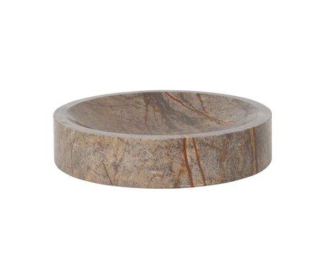 Ferm Living Bowl Scape brown marble Ø30x6,5cm