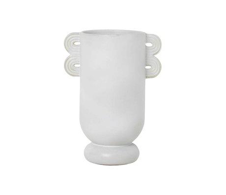 Ferm Living Vase Muses Ania hellgraue Keramik Ø13x29cm