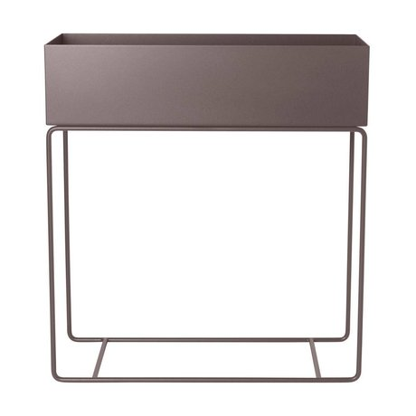 Ferm Living Plant box taupe metaal 60x25x65cm