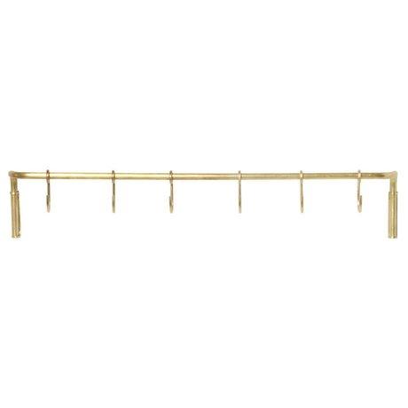 Ferm Living Kitchen rack brass gold steel 55,3x6,15x9,65