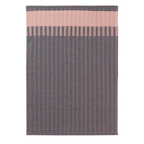 Ferm Living Theedoek Grain Jacquard roze katoen 50x70cm