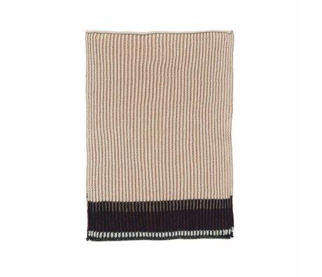 Ferm Living Dish cloth Akin pink cotton set of 2 26x32cm