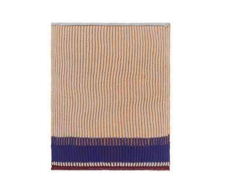 Ferm Living Dish cloth Akin honey gold cotton set of 2 26x32cm