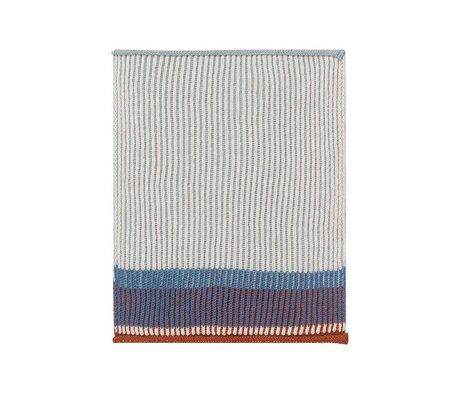 Ferm Living Vaatdoek Akin blauw katoen set van 2 26x32cm