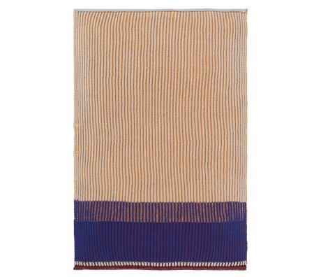 Ferm Living Kitchen towel Akin honey gold cotton 35x50cm