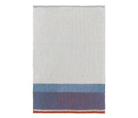 Ferm Living Keukenhanddoek Akin blauw katoen 35x50cm