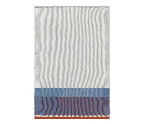 Ferm Living Kitchen towel Akin blue cotton 35x50cm