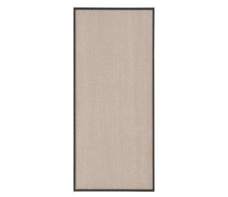 Ferm Living Prikbord Scenery beige zwart katoen hout 45x3,5x100cm