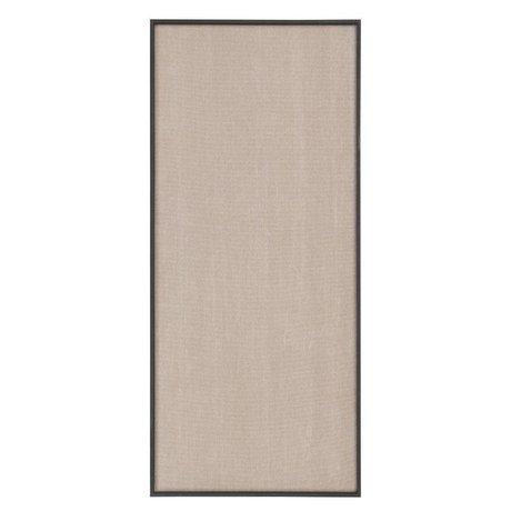 Ferm Living Tableau d'affichage Paysage beige coton noir 45x3,5x100cm