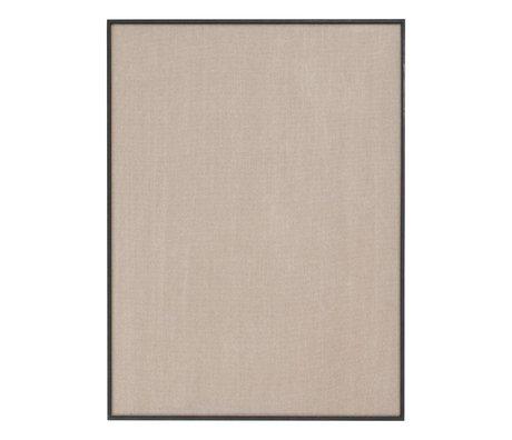 Ferm Living Prikbord Scenery beige zwart katoen hout 75x3,5x100cm