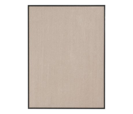 Ferm Living Tableau d'affichage Paysage beige coton noir 75x3,5x100cm
